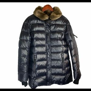 S13 Down Puffer Quilted Buckle Coat